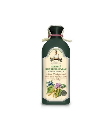 Szampon ziołowy czarny - przeciwłupieżowy - Receptury Babci Agafii 350ml