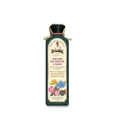 Balsam Ziołowy Miękki do włosów farbowanych i zniszczonych - Receptury Babci Agafii 350 ml