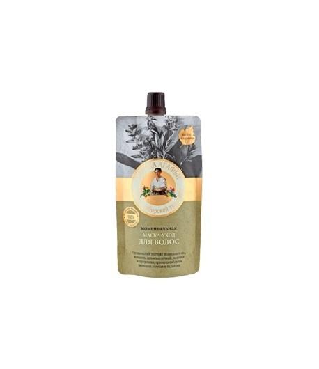 Maska do włosów - Momentalna - Blask i Elastyczność - Bania Agafii 100 ml