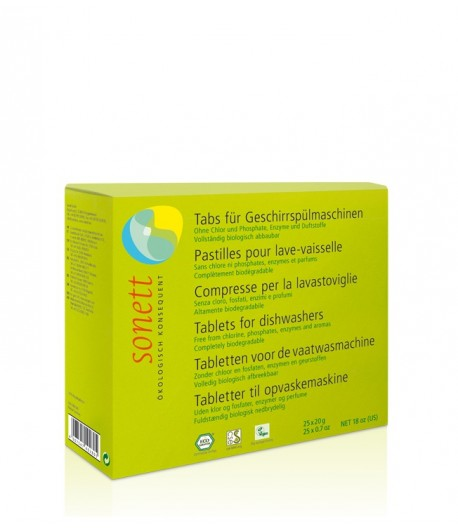 Ekologiczne tabletki do zmywarki - Sonett 25 szt.