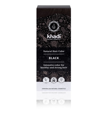 Naturalna Henna Kolor Czarny Khadi 100g