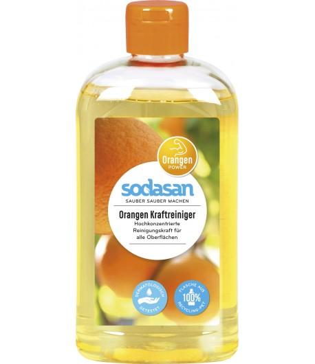 Pomarańczowy płyn do czyszczenia - silnie skoncentrowany - Sodasan 500 ml