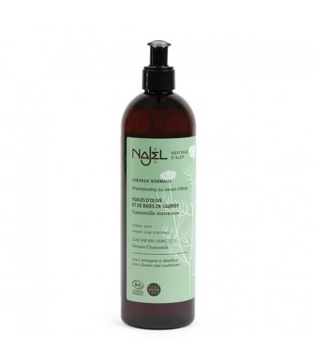 Szampon i odżywka 2w1 z mydłem Aleppo do włosów normalnych - Najel 500 ml