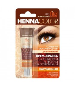 Henna w kremie do brwi i rzęs - brązowa - Fitokosmetik 5 ml