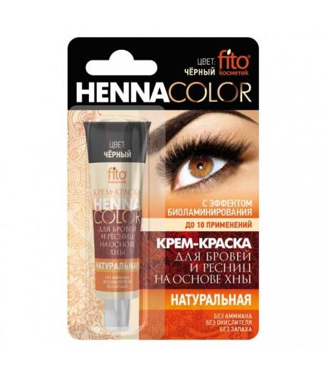 Henna w kremie do brwi i rzęs - czarna - Fitokosmetik 5 ml