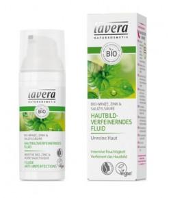 Lekki fluid do cery tłustej i zanieczyszczonej z bio-miętą, cynkiem i kwasem salicylowym - Lavera 50 ml