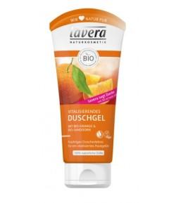 Żel pod prysznic i do kąpieli z bio-pomarańczą i bio-rokitnikiem - Lavera 200 ml