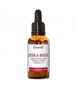 Dzika róża - serum rozświetlające - geranium, cyprys, witaminy E i C - iossi 30 ml