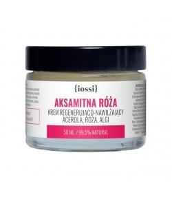 Aksamitna róża - regenerująco nawilżający krem z acerolą, różą i algami - IOSSI 50 ml