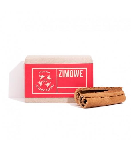 Mydło zimowe o korzenno-ciasteczkowym aromacie - Mydlarnia Cztery Szpaki 110g