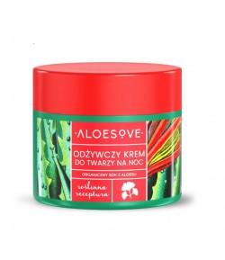 Odżywczy krem do twarzy na noc - ALOESOVE 50 ml