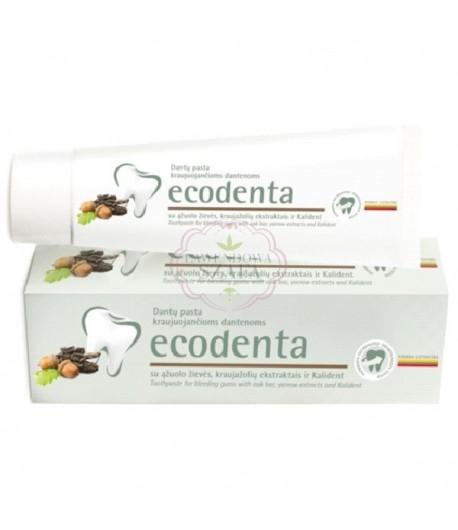 Pasta do zębów na zapalenie dziąseł z korą dębu, ekstraktem z krwawnika i bioaktywnym wapniem - Ecodenta 100 ml