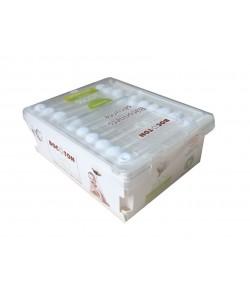Patyczki higieniczne dla dzieci i niemowląt z bawełny ekologicznej - 60 szt Bocoton