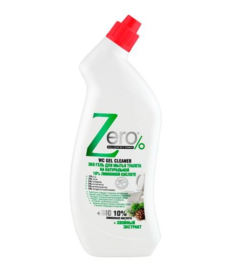 Eco żel do mycia toalet - kwas cytrynowy i ekstrakt z drzew iglastych - Zero 750 ml