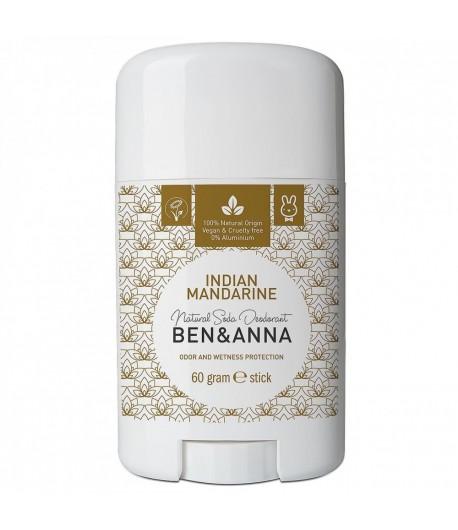 Naturalny dezodorant INDIAN MANDARINE - sztyft plastikowy - BEN&ANNA 60g