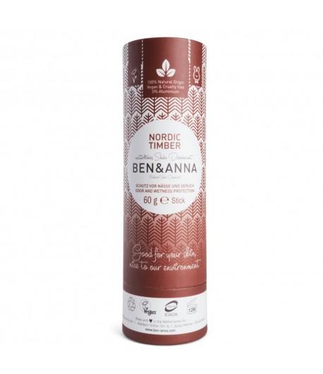 Naturalny dezodorant NORDIC TIMBER - sztyft kartonowy - BEN&ANNA 60g