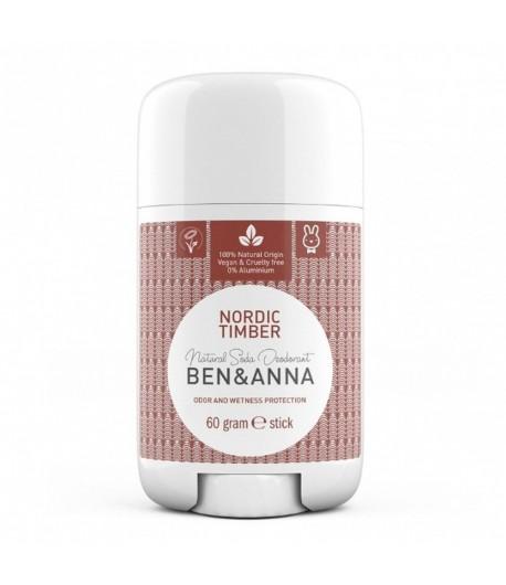 Naturalny dezodorant NORDIC TIMBER - sztyft plastikowy - BEN&ANNA 60g