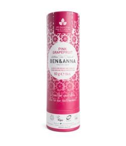 Naturalny dezodorant PINK GRAPEFRUIT - sztyft kartonowy - BEN&ANNA 60g