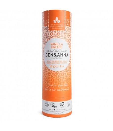 Naturalny dezodorant VANILLA ORCHID - sztyft kartonowy - BEN&ANNA 60g