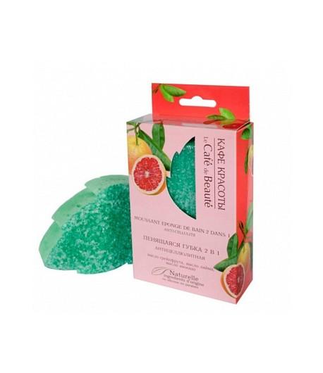 Gąbka do ciała 2 w 1 nasączona mydłem – antycellulitowa - Le Cafe de Beaute