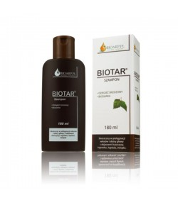 Szampon do włosów i skóry głowy z objawami łuszczycy, łojotoku i łupieżu - Biotar 180 ml