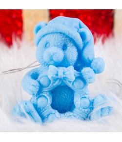Mydło glicerynowe - Miś z wiankiem - niebieski - LaQ 90 g