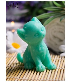 Mydło glicerynowe - Kotek Puszek - zielony - LaQ 50 g