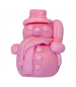 Mydło glicerynowe - Bałwanek - różowy - LaQ 50 g