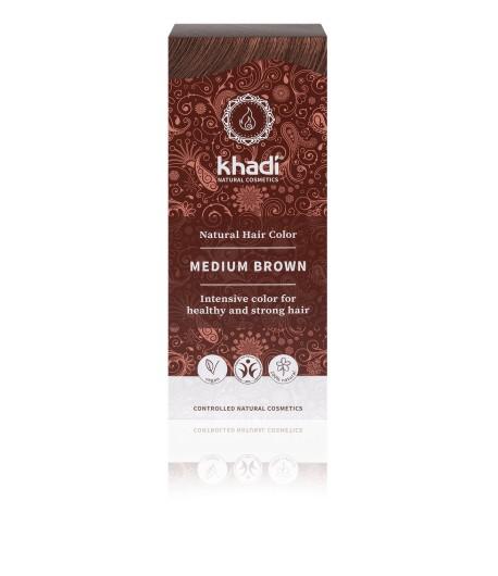 Naturalna Henna Średni Brąz - Khadi 100 g