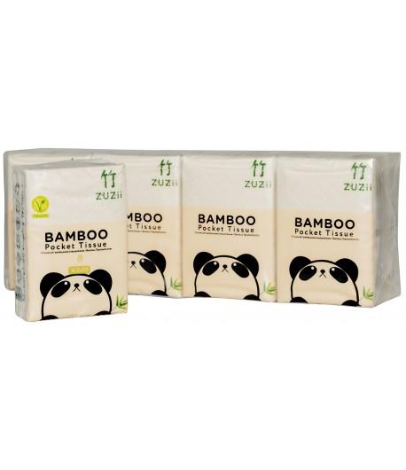 Bambusowe kieszonkowe chusteczki higieniczne - ZUZii 8 opak.