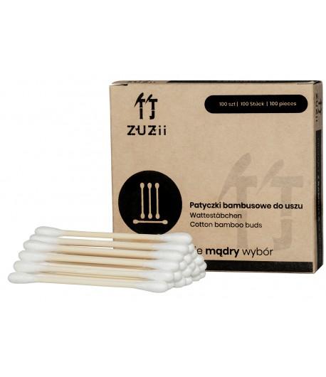 Bambusowe patyczki kosmetyczne z bawełną - ZUZii 100 szt.