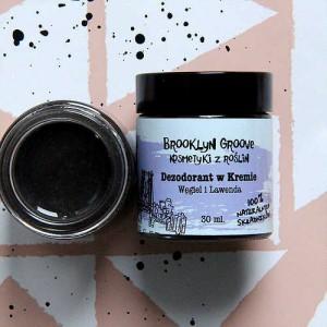 Dezodorant w kremie Węgiel i Lawenda - Brooklyn Groove 30 ml