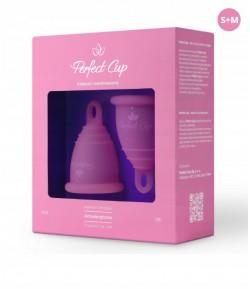 Zestaw kubeczków menstruacyjny S i M - ciemny róż - Perfect Cup
