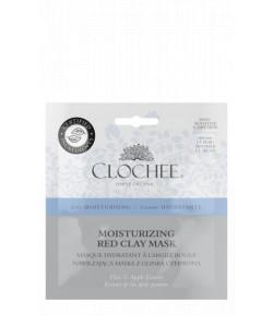 Nawilżająca maska z czerwoną glinką - Clochee 2 x 6 ml