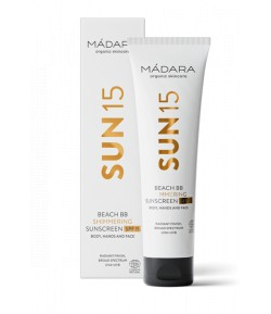 SUN15 Rozświetlający krem BB do ciała z filtrem SPF 15 - Madara 100 ml