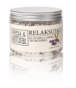 Relaksująca sól do kąpieli z Lawendą i Zieloną herbata - Fresh&Natural 500g