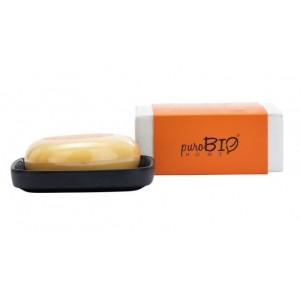 Mydło z mydelniczką Organic Energy - zapach pomarańczy - puroBIO HOME