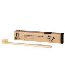 Bambusowa szczoteczka do zębów dla dorosłych - kolor beżowy - Zuzii