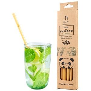 Bambusowe słomki do picia - ZUZii 10 szt.