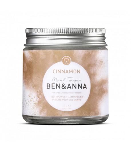 Naturalny odświeżający proszek do zębów z cynamonem - BEN&ANNA 45g