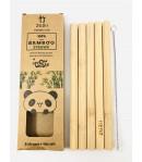 Bambusowe słomki do picia - grube - ZUZii 5 szt.