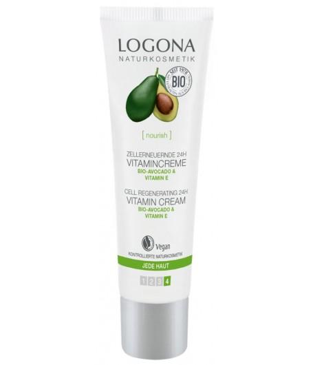 Odżywczo - regenerujący krem z Bio-Awokado - Logona 30 ml