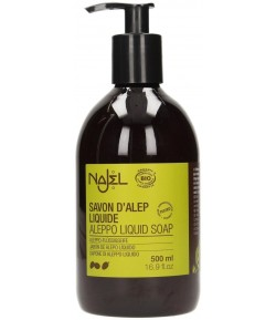 Mydło ALEPPO w Płynie - 3% Olejku Laurowego BIO - NAJEL 500 ml
