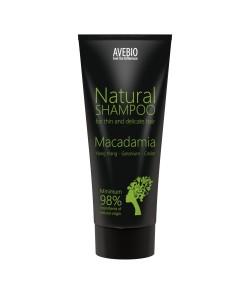 Bio szampon z olejkiem makadamia - AVEBIO 200 ml
