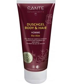 Żel pod prysznic do ciała i włosów z bio-aloesem 2w1 HOMME- Sante 200 ml