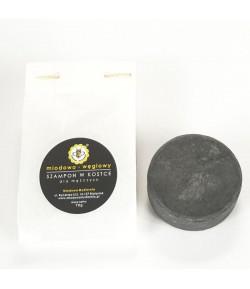 Re-fill Szampon w kostce Miodowo - Węglowy - Miodowa Mydlarnia 70g