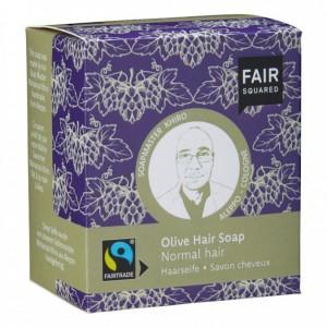 Oliwkowy szampon w kostce do włosów normalnych - Fair Squared 2x80g