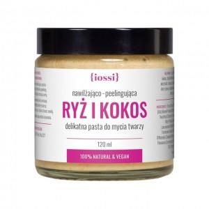 Peelingująca pasta do mycia twarzy Ryż i Kokos - iossi 120 ml