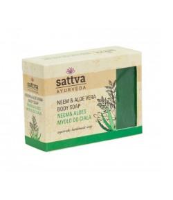 Mydło glicerynowe Neem i Aloes - Sattva - 125 g