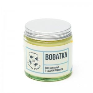 BOGATKA - Naturalna świeca sojowa - kwiatowa - Mydlarnia Cztery Szpaki
